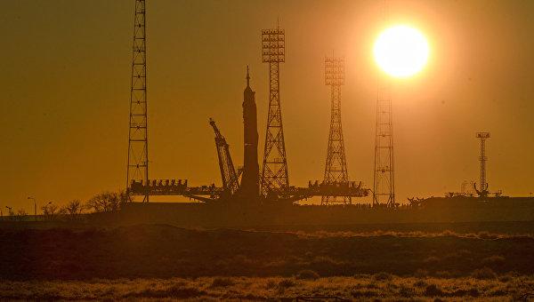 Стартовая площадка космодрома Байконур.  Архивное фото