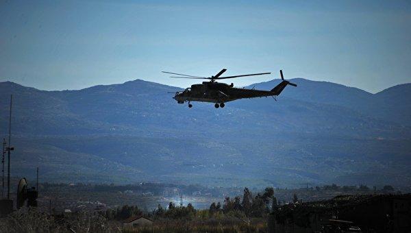 Вертолет Ми-24 Воздушно-космических сил РФв Сирии. Архивное фото