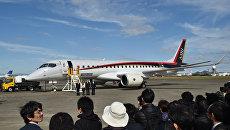 Японский реактивный самолет MRJ. Архивное фото