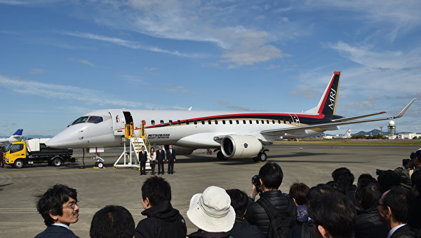 Японский самолет MRJ вылетел вСША для пробных полетов