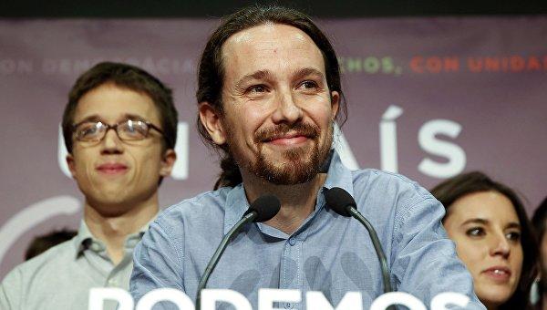 Лидер испанской партии Podemos Пабло Иглесиас. Архивное фото