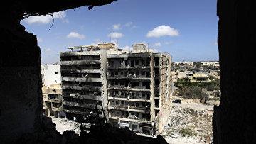 Разрушенные улицы в Ливии. Архивное фото