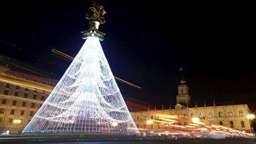 Рождественская елка в Тбилиси, Грузия