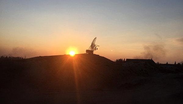 Радиолокационная станция Сирийской арабской армии на территории взятого под контроль района Мардж аль-Султан на юго-востоке Дамаска. Архивное фото