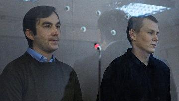 Граждане России Евгений Ерофеев (слева) и Александр Александров, задержанные в мае 2015 года на территории Украины. Архивное фото
