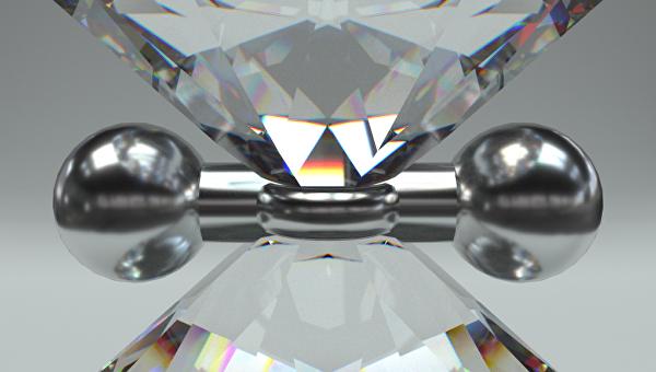 Так художник представил себе молекулу водорода, сжимаемую в алмазных тисках