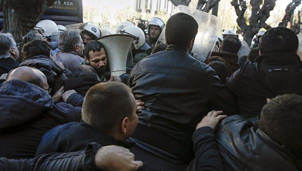 Беспорядки в Греции, январь 2016 года