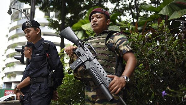 Малайзийская полиция в Куала-Лумпуре. Архивное фото