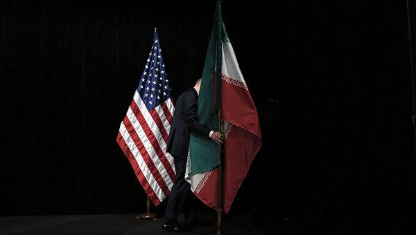 Флаги Сша и Ирана