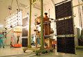 "Сотрудники космодрома ""Байконур"" проводят проверку солнечных батарей спутника ""Канопус-В"""