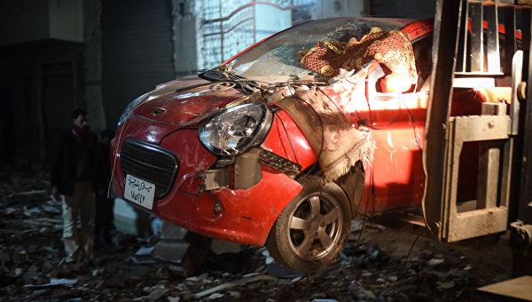 Взрыв бомбы в Каире