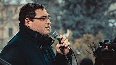 Председатель партии Наша Партия Ренато Усатый во время акции протеста в Кишиневе. Архивное фото