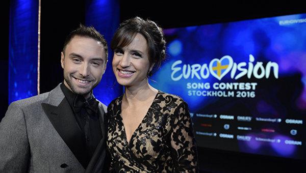 Ведущие Евровидения 2016 в Стокгольме. Архивное фото