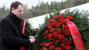 Министр культуры России Владимир Мединский во время визита в Польшу