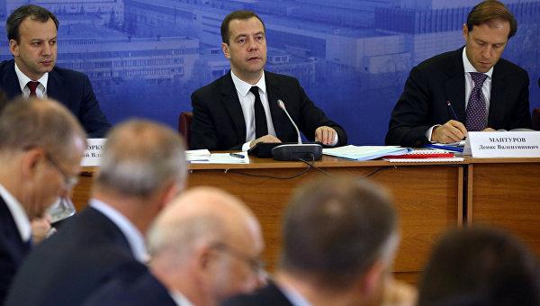Рабочая поездка премьер-министра РФ Д.Медведева в Санкт-Петербург