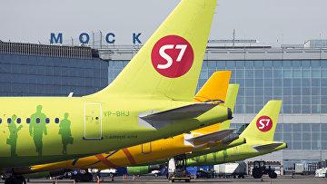 Самолеты авиакомпании s7 Airlines. Архивное фото
