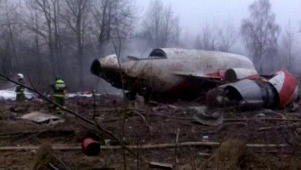 Крушение самолет президента Польши Леха Качиньского Ту-154. Архивное фото