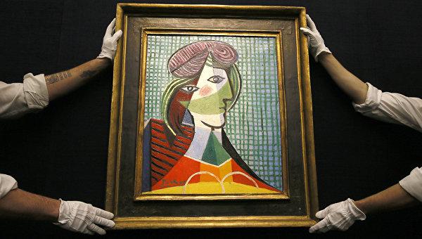 Картина Пабло Пикассо Голова женщины на торгах Sotheby's