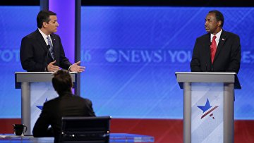 Кандидаты в президенты США Тед Круз и Бен Карсон