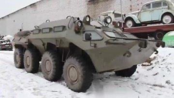 Погоню за бронетранспортером в Ленобласти сняли на видео