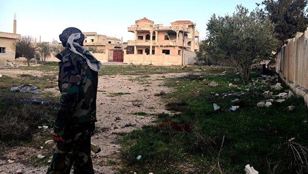 Военнослужащий Сирийской арабской армии, архивное фото