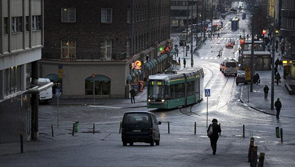 В центре Хельсинки. Финляндия. Архивное фото