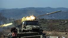 Реактивные системы залпового огня (РСЗО) Град сирийской армии. Архивное фото