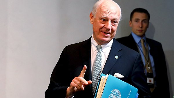 Спецпосланник ООН по Сирии Стаффан де Мистура. Архивное фото