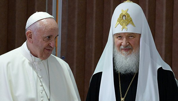 Встреча патриарха Московского и всея Руси Кирилла с папой Римским Франциском