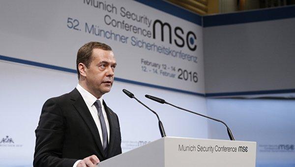 Премьер-министр РФ Д. Медведев принял участие в Мюнхенской конференции по безопасности. Архивное фото