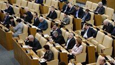 Депутаты на заседании Государственной Думы РФ