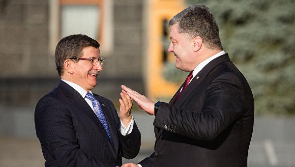 Встреча президента Украины П. Порошенко и премьер-министра Турции А. Давутоглу
