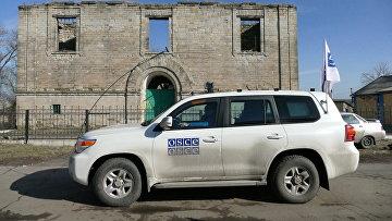 Автомобиль ОБСЕ в Донбассе. Архивное фото