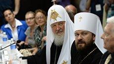 Патриарх Кирилл и митрополит Иларион во время визита в Парагвай. Архивное фото.