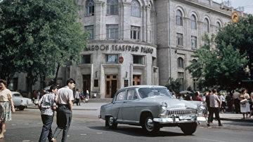 Здание Центрального телеграфа. Кишинев. Молдова