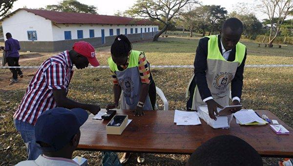 Избирательный участок в Уганде. 18 февраля 2016 год