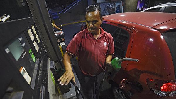 Автомобильная заправочная станция в Венесуэле