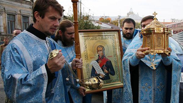 Мощи святого Федора Ушакова доставили в Крым