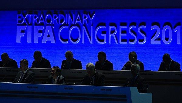 Внеочередной конгресс Международной федерации футбола (ФИФА) в Халленштадионе