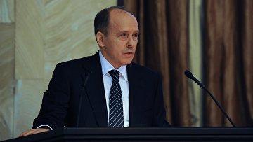 Директор Федеральной службы безопасности Александр Бортников выступает на заседании коллегии Федеральной службы безопасности в Москве