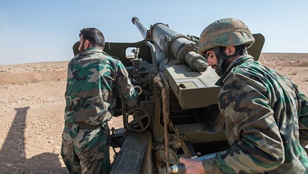 Бойцы Сирийской арабской армии. Архивное фото
