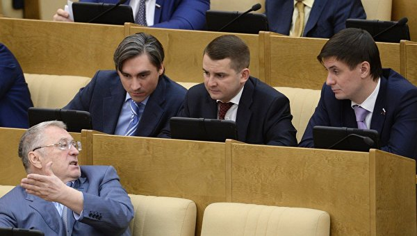 Депутаты ЛДПР на пленарном заседании Государственной Думы РФ. Архивное фото