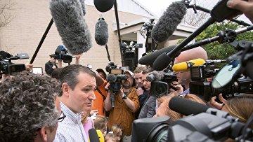 Кандидат в президенты США от республиканцев Тед Круз на праймериз в Техасе