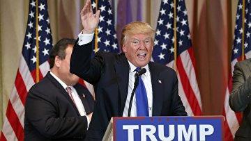 Дональд Трамп на праймериз в супервторник