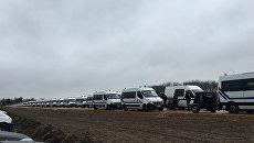 Возле лагеря мигрантов Джунгли во французском городе Кале. 29 февраля 2016. Архивное фото