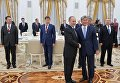 Встреча президентов России и Киргизии В. Путина и А. Атамбаева