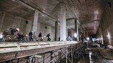 Строительство станции метро пересадочного контура. Архивное фото