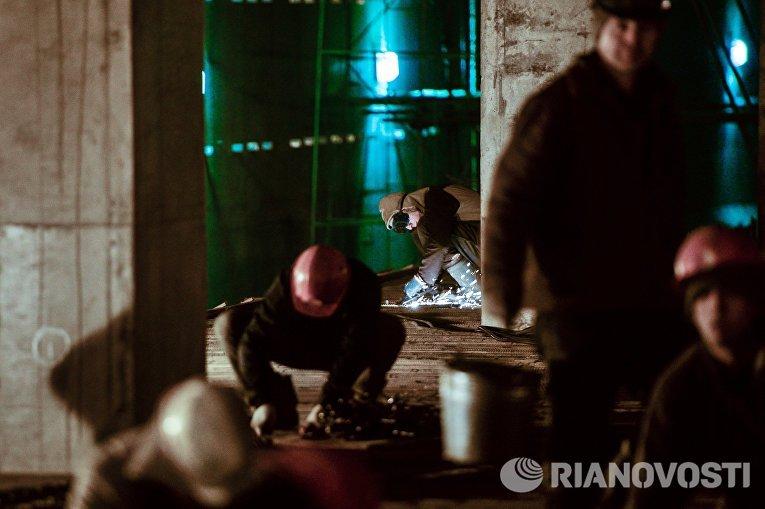 Строительство станции метро Хорошевская Третьего пересадочного контура