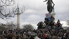 Демонстрация в Париже. Архивное фото