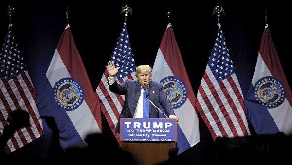 Дональд Трам во время выступления в Канзас-сити, 12 марта 2016